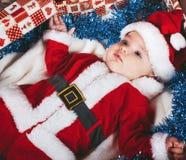 dziecko mały Santa Fotografia Stock