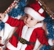 dziecko mały Santa Zdjęcia Royalty Free
