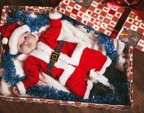 dziecko mały Santa Obrazy Royalty Free