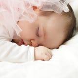 Dziecko makro-, dosypianie nowonarodzony Zdjęcie Stock