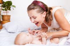 dziecko mama zdjęcie stock