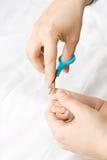 Dziecko manicure Obraz Royalty Free