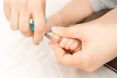 Dziecko manicure Zdjęcie Stock