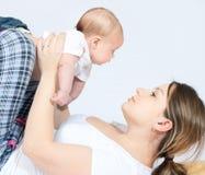 dziecko matka rodzinna szczęśliwa obraz stock