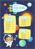 Dziecko menu posiłku szablon ilustracji