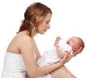 dziecko mienie jej matka fotografia stock