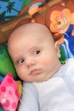 Dziecko na barwionym tle Obraz Stock