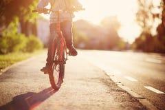 Dziecko na bicyklu Zdjęcia Royalty Free
