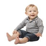 Dziecko na bielu Obrazy Stock