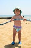 dziecko na plażę Obraz Stock