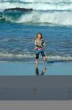 dziecko na pokrycie morza Obraz Royalty Free