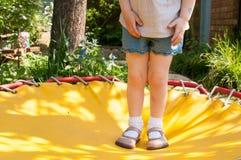 Dziecko na trampoline Obraz Royalty Free