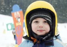 Dziecko narciarka Zdjęcia Royalty Free