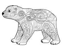 Dziecko niedźwiedź w zentangle stylu Obraz Stock