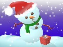 dziecko śnieg Zdjęcie Royalty Free