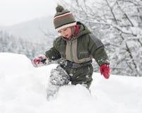 dziecko śnieg Obrazy Royalty Free