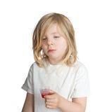 Dziecko nienawidzi medycynę Zdjęcia Royalty Free