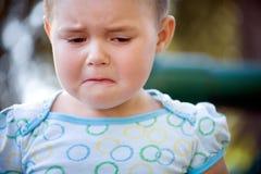 dziecko nieszczęśliwy Obrazy Royalty Free