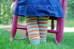 Dziecko nogi Fotografia Royalty Free