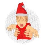 dziecko nowego roku płacz dziecko no otrzymywał royalty ilustracja