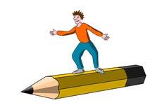 dziecko ołówek ilustracji
