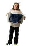 dziecko obowiązki domowe Fotografia Royalty Free
