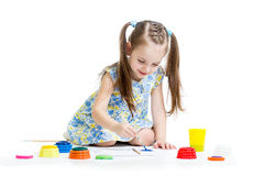 Dziecko obraz z muśnięciem Fotografia Stock