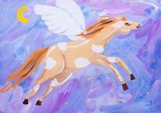 Dziecko obrazek szaleństwo koń Fotografia Royalty Free