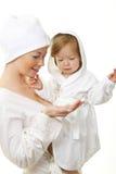 dziecko obrazek szczęśliwy macierzysty Zdjęcie Royalty Free