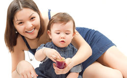 dziecko obrazek szczęśliwy macierzysty Zdjęcie Stock