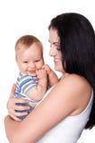 dziecko obrazek szczęśliwy macierzysty Obrazy Royalty Free