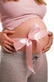dziecko oczekuje dziewczyny kobieta w ciąży Obraz Royalty Free