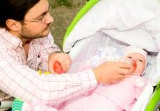 dziecko ojciec obraz stock