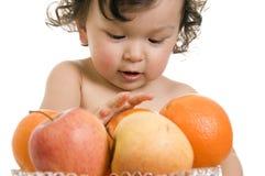 dziecko owoców Zdjęcie Royalty Free