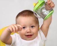 dziecko pół litra Zdjęcia Royalty Free