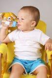dziecko pół litra Zdjęcie Royalty Free