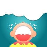 Dziecko płaczu ilustrator Eps 10 Zdjęcia Royalty Free