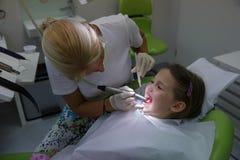 Dziecko pacjent na jej miarowym checkup Obrazy Royalty Free