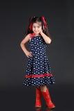 dziecko patriotyczny Zdjęcia Royalty Free
