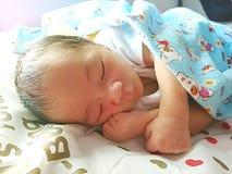 dziecko śpi dziecko Zdjęcia Royalty Free