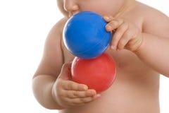 dziecko piłka obraz stock