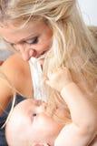 dziecko piękny kobiet jej potomstwa Zdjęcie Stock