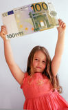 dziecko pieniądze zdjęcie royalty free