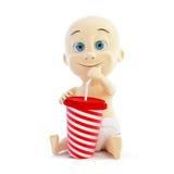 Dziecko pije soda royalty ilustracja