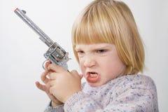 dziecko pistolet Zdjęcia Royalty Free