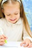 Dziecko pisze obrazy stock