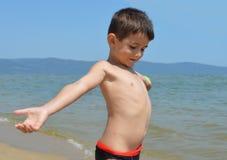 Dziecko plaża Obrazy Stock