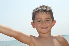 Dziecko plaża Zdjęcia Stock