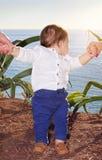 dziecko plaża Obraz Royalty Free