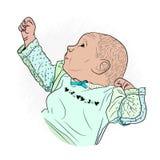 dziecko po sen rozciąga ładować royalty ilustracja